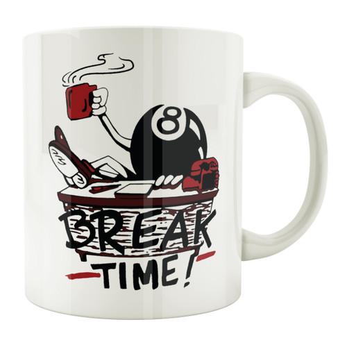 """Break Time!"" 11 oz. Coffee Mug"