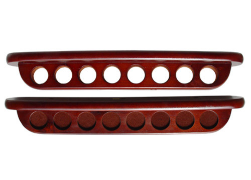 Sterling Deluxe Two-Piece Wall Rack, Mahogany, 8 Cue