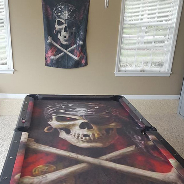 Custom Pool Table Felt - Pirate