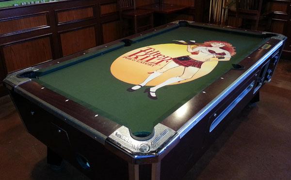 Custom Pool Table Felt - Tilted Kilt
