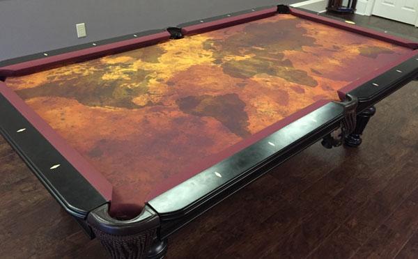 Custom Pool Table Felt - Grunge Map