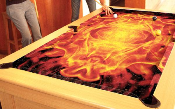 Custom Pool Table Felt - Flames