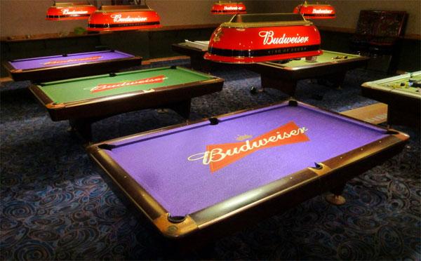 Custom Pool Table Felt - Budweiser