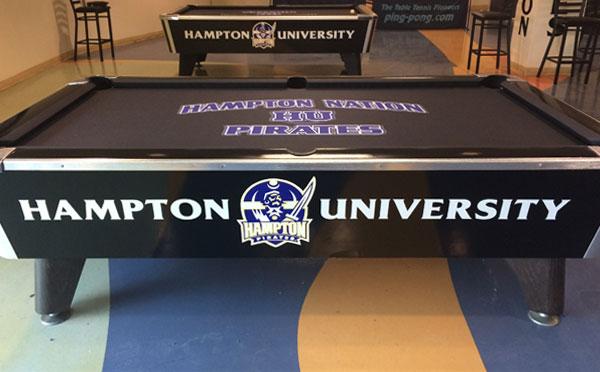 Custom Pool Table Felt - Hampton Pirates