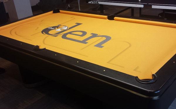 Custom Pool Table Felt - The Den Missouri Tigers