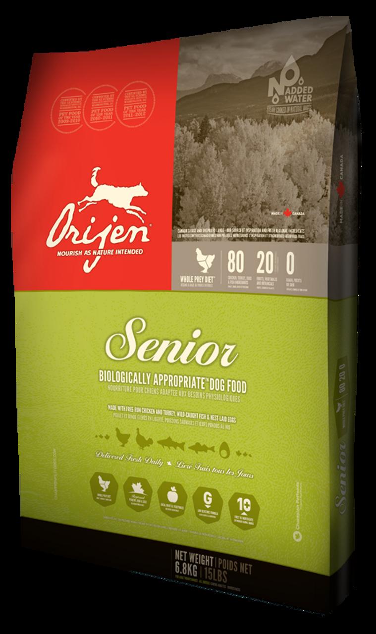 Senior Dog Food >> Orijen Senior Dog Food Choose Size To View Price