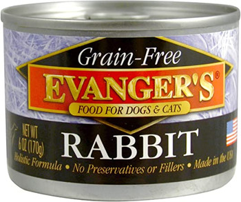 Evanger's Grain-Free Food for Dogs & Cats - Rabbit, 6 oz. can