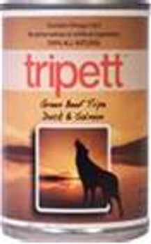 Tripett - Green Beef Tripe with Duck and Salmon for Dogs, 13 oz. can