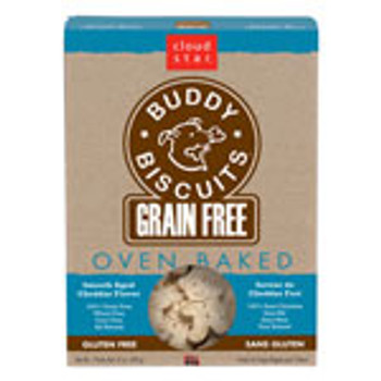 Cloud Star Grain Free, Oven Baked Buddy Biscuits - Smooth Aged Cheddar Flavor, 14 oz.