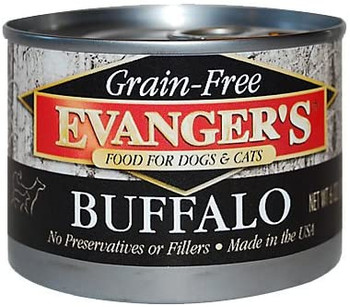 Evanger's Grain-Free Food for Dogs & Cats - Buffalo, 6 oz. can