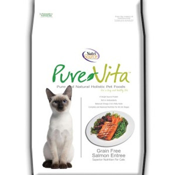 Pure Vita Grain-Free Cat Kibble, Salmon (Choose Size to View Price)