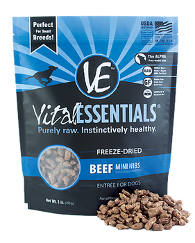 Vital Essentials Freeze Dried Mini Nibs, Beef, 1 lb.