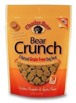 Charlee Bear Grain Free Chicken/Pumpkin/Apple Dog Treats, 8 oz.
