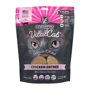 Vital Essentials Freeze Dried Cat Mini Patties, Chicken, 8 oz.