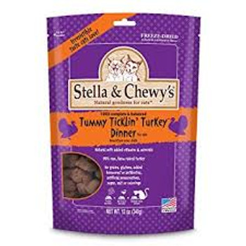 Stella & Chewy's Freeze Dried Tummy Ticklin' Turkey for Cats (Choose size to view price)