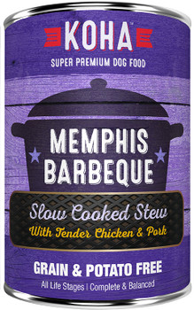 Koha Memphis Barbeque Slow Cooked Stew Dog Food, 12.7 oz.
