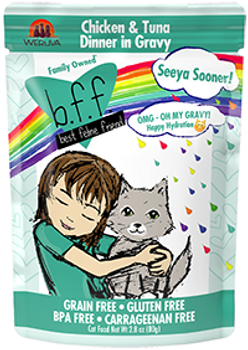 BFF OMG - Seeya Sooner Chicken & Tuna Cat Food Pouch, 2.8 oz.