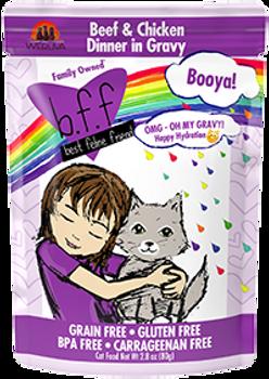 BFF OMG - Booya Beef & Chicken Cat Food Pouch, 2.8 oz.