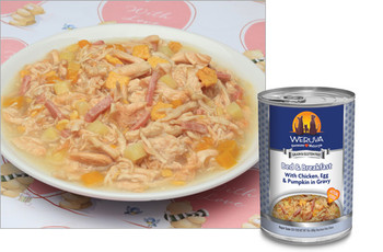 Weruva Bed & Breakfast (with Chicken, Egg, Pumpkin and Ham) Dog Food Can, 14 oz.