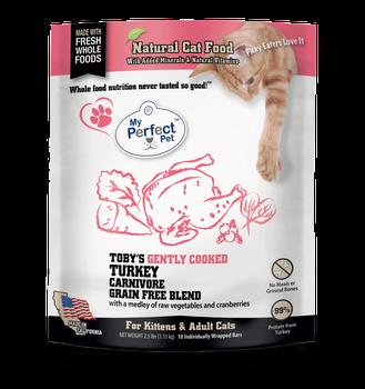 My Perfect Pet Cat Frozen Raw Toby's Carnivore Turkey, 2.5#