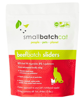 Small Batch Beef Sliders for Cats, 3 lb.