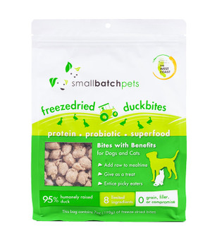 Small Batch Freeze Dried Duck Bites, 7 oz.