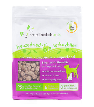 Small Batch Freeze Dried Turkey Bites, 7 oz.