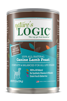 Nature's Logic Canned Canine Lamb Feast , 13.2 oz.
