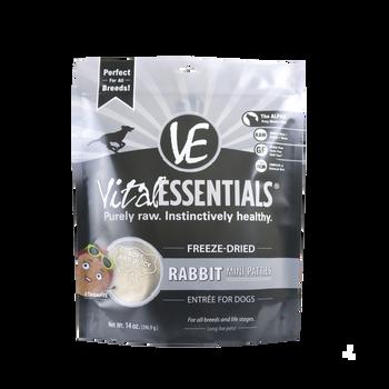Vital Essentials Freeze Dried Mini Patties, Rabbit, 14 oz.