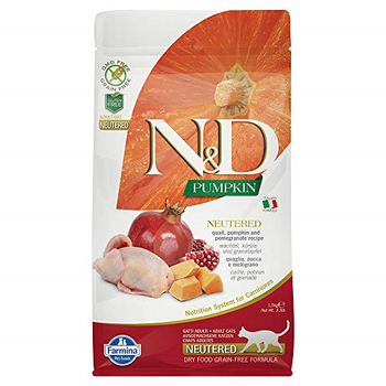 Farmina N&D Grain Free Neutered Chicken/Pomegranate Cat, 3.3 lb.