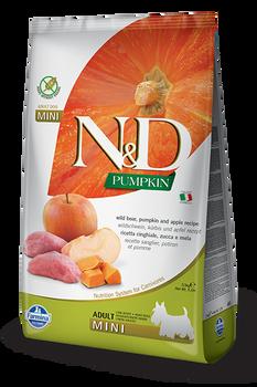 Farmina N&D Wild Boar, Pumpkin & Apple Dog Food, Mini Size, 5.5 lb.