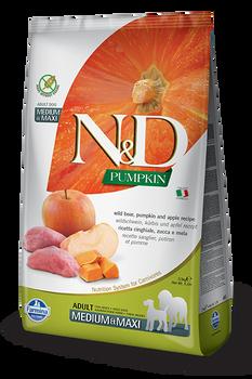 Farmina N&D Wild Boar, Pumpkin & Apple Dog Food, Med/Maxi Size, 26.4 lb.