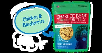 Charlee Bear Meaty Bites, Chicken Blueberry, 5 oz.