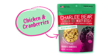 Charlee Bear Meaty Bites, Chicken Cranberry, 2.5 oz.