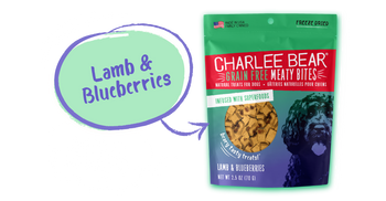 Charlee Bear Meaty Bites, Lamb Blueberry, 2.5 oz.