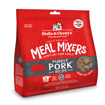 Stella & Chewy's Purely Pork Meal Mixers for Dogs, 18 oz.