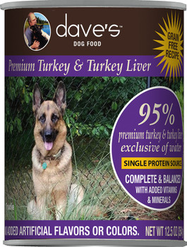 Dave's 95% Premium Meats™ Canned Dog Food—Turkey & Turkey Liver