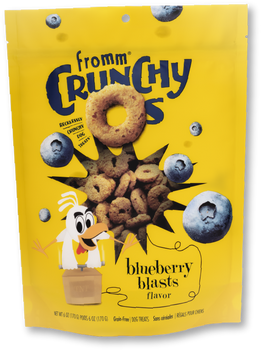 Fromm Crunchy O's Blueberry Blasts Dog Treat, 6 oz.
