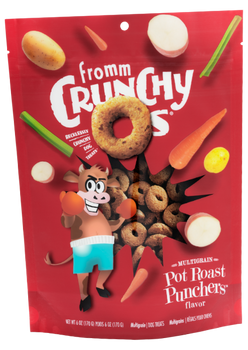 Fromm Crunchy O's Pot Roast Punchers Dog Treat, 6 oz.