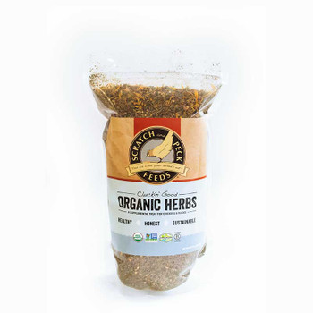 Scratch and Peck Cluckin' Good Organic Herbs, 10 oz.