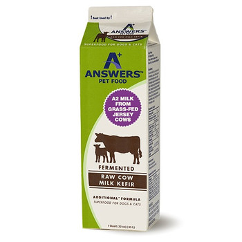 Answers Fermented Raw Cow Milk Kefir (choose size to view price)