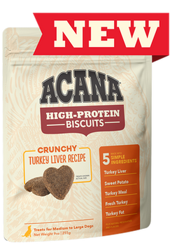 Acana High Protein Crunchy Turkey Liver Biscuits, 9 oz.