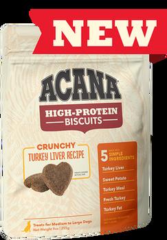 Acana High Protein Crunchy Turkey Liver Biscuits, 9 oz.