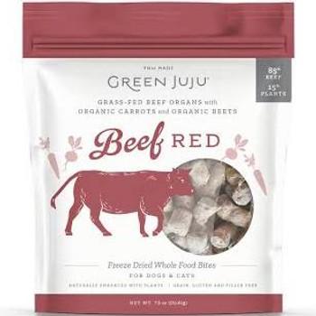 Green Juju Beef Red Freeze Dried Bites, 7.5 oz.