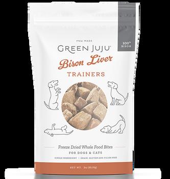 Green Juju Bison Liver Freeze Dried Bites,  3 oz.