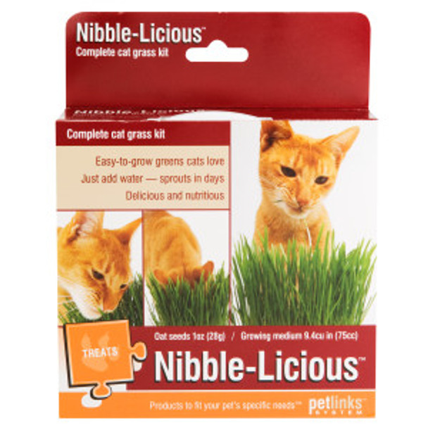 Petlinks Nibble-Licious Complete Cat Grass Kit