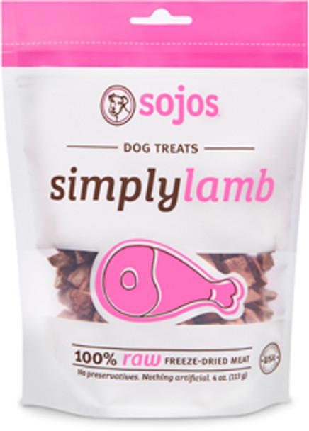Sojos Dog Treats, Simply Meat Lamb Treats (4 oz.)