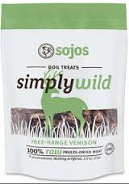 Sojos Simply Wild Venison Treats (2.5 oz.)