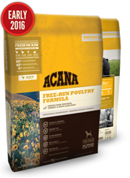 Acana Heritage Free-Run Poultry for Dogs (Choose size to view price)