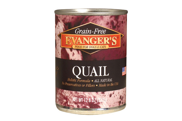 Evanger's Quail Canned Dog Food, 13 oz.